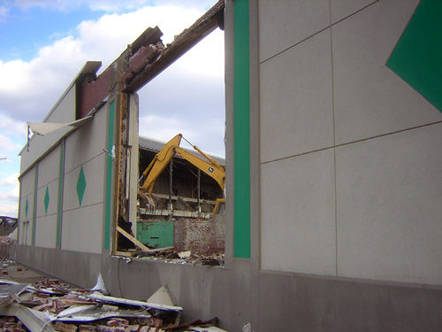 Demolition in full swing at the former Knight-Celotex property ...