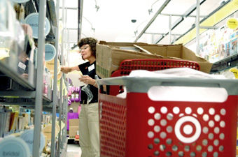 Monroe marketplace stores set for debut news dailyitem rose weber with the american greetings company stocks shelves in the target store in monroe marketplace m4hsunfo