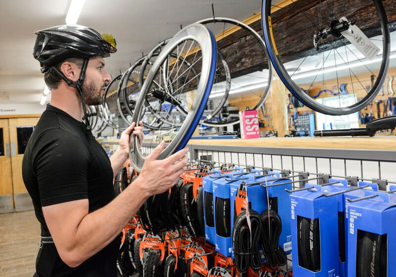 Many people dusting off old bicycles, riding again