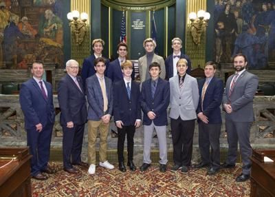 Cross-country team receives citation at Capitol