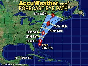 Irene closes in on the N C Outer Banks News