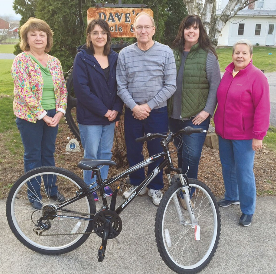 Mary Forry co-chair; Brenda Reasner Missy Rohm co-chair and Bev Staman of the Warrior Run Womanu0027s Club pose with Dave Dersham at Daveu0027s Bike Shop in ...  sc 1 st  The Daily Item & Warrior Run Womanu0027s Club hosting annual bike hike on April 24 ...