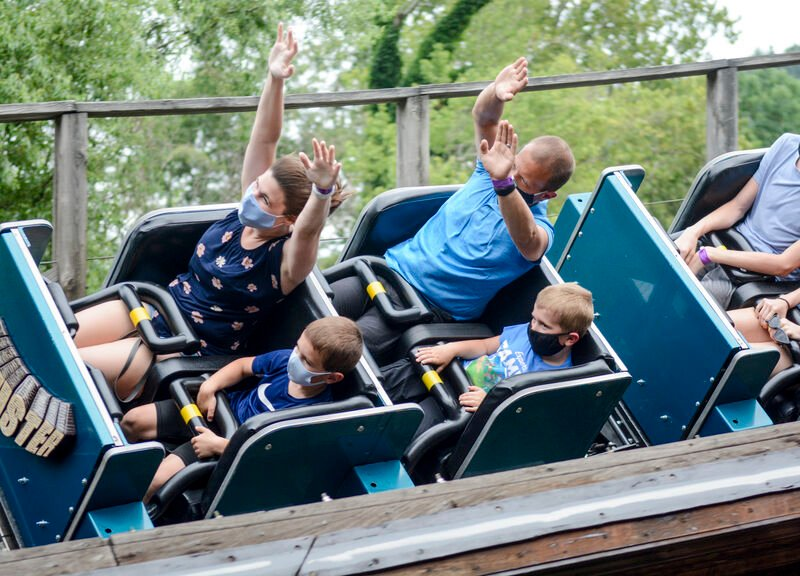 Knoebels patrons following rules, express gratitude park is open