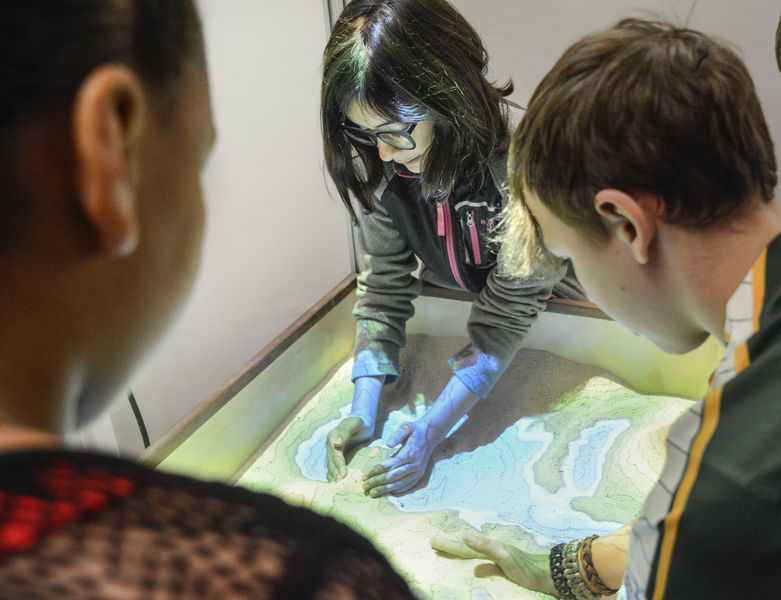 Tech-equipped sandbox enlivens topography at Linntown Intermediate School