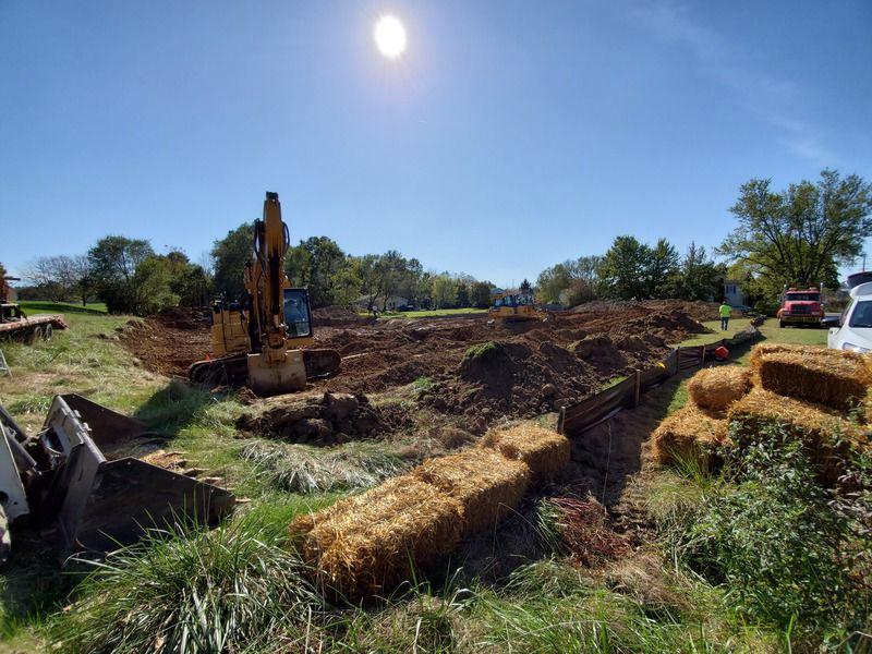 Work begins to create wetland at Lewisburg's Eichhorn school