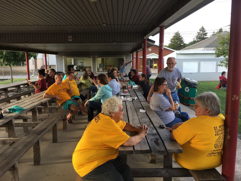 Churches provide help to community with free picnic, giveaways