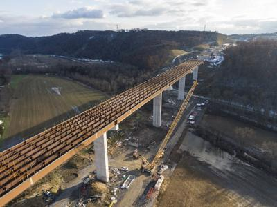 CSVT river bridge 75 percent complete