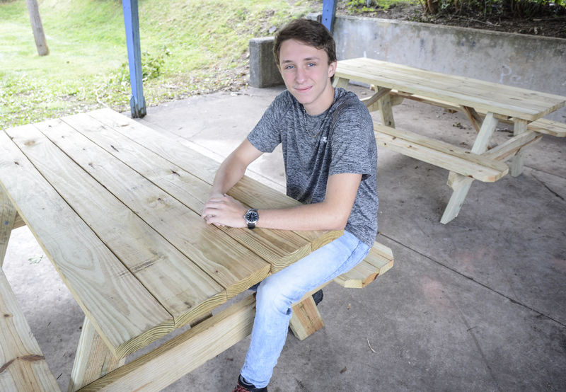 Senior donates time, effort to improve playground