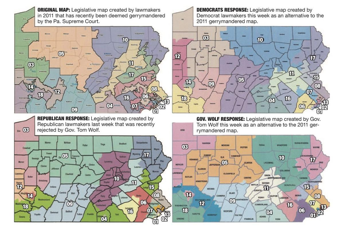Potential Pennsylvania Congressional districts