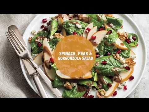 Spinach, Pear & Gorgonzola Salad