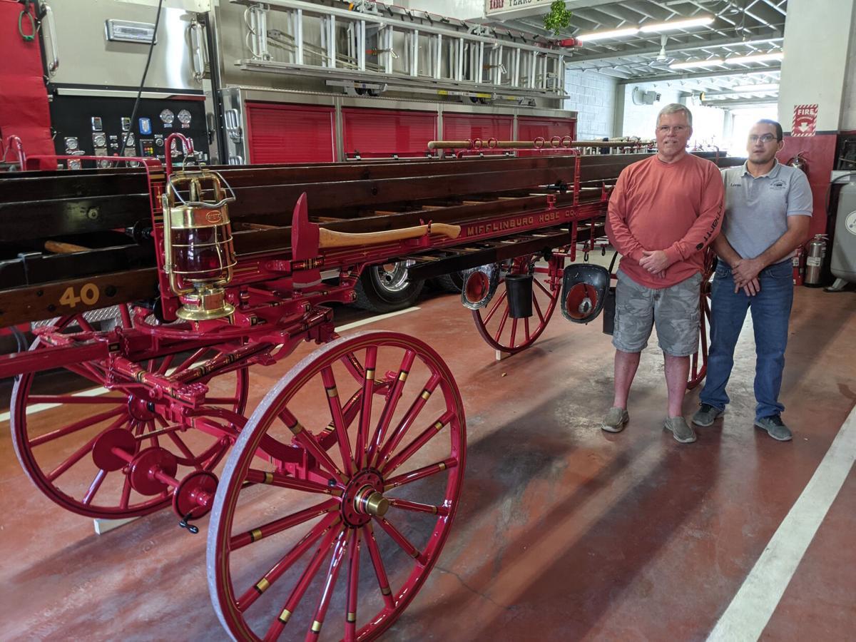 Valley buggy shop restores 1899 ladder wagon for Mifflinburg Hose
