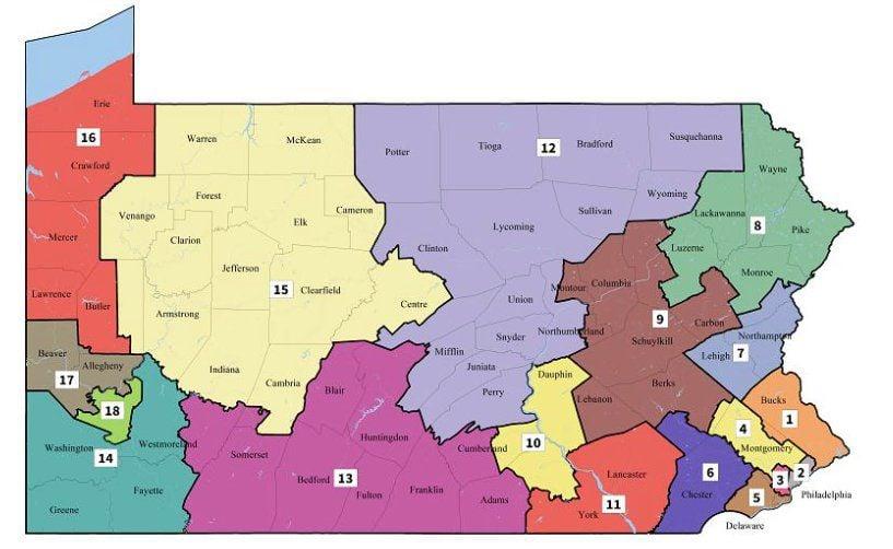 Supreme Court's Pa district map