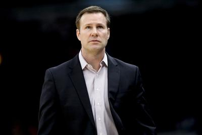 In a March 21, 2018, file image, Chicago Bulls head coach Fred Hoiberg mans the bench against the Denver Nuggets at the United Center in Chicago. Hoiberg is now said to be finalizing a deal to return to the college ranks as Nebraska's head coach.