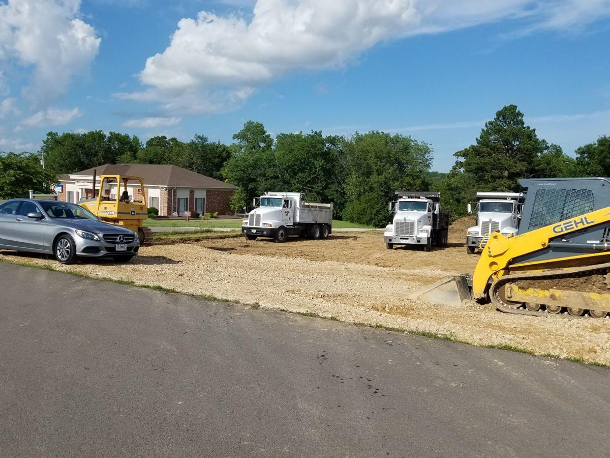 Terre du Lac Homes going in at development entrance