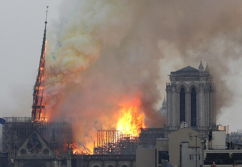 Photos: Iconic Notre Dame Cathedral in Paris goes up in flames