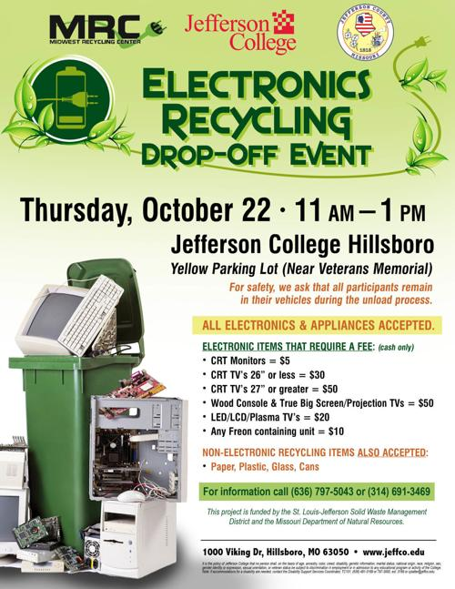 Electronics recycling event to be held Oct. 22