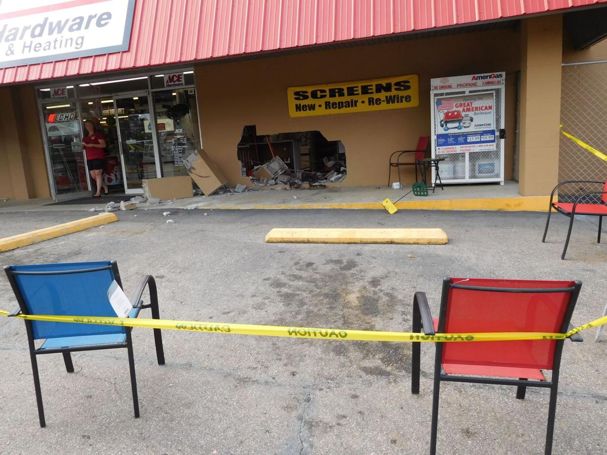 Car strikes building at Mueller ACE Hardware | Gallery of Pictures ...