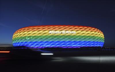 Germany Euro 2020 Soccer Rainbow Colors