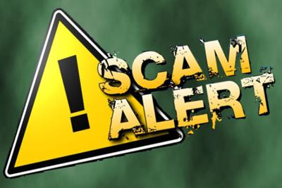 Be on the alert for scams