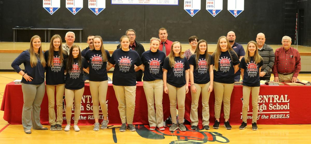 7704931faa4a Coach Torrie Helms and her eighth grade girls  basketball team are  recognized during the Central Board of Education s regular meeting Thursday  evening.