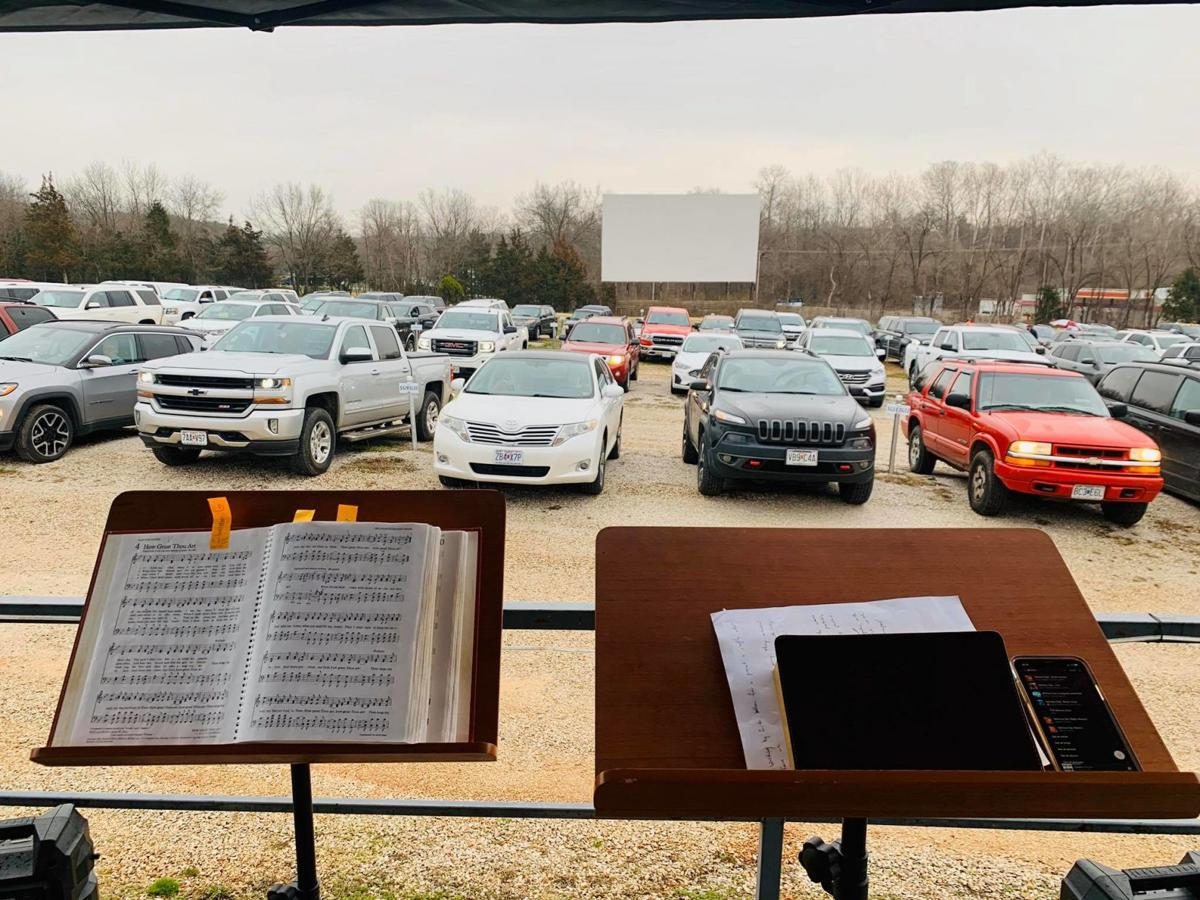 Drive-in churches provide togetherness with distance