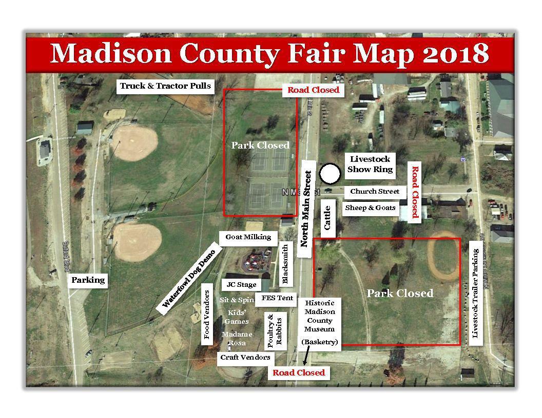 2018 MadCo Fair Map