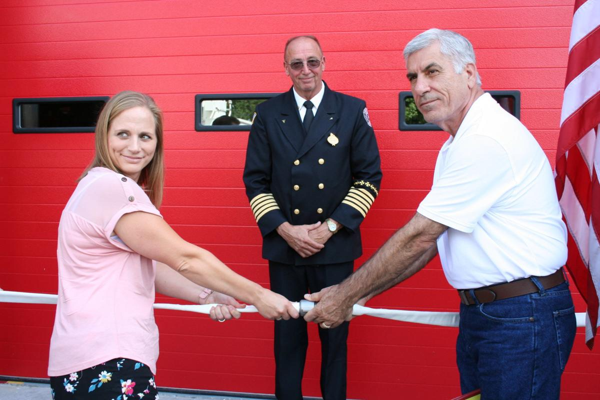 Crowd gathers to celebrate firehouse