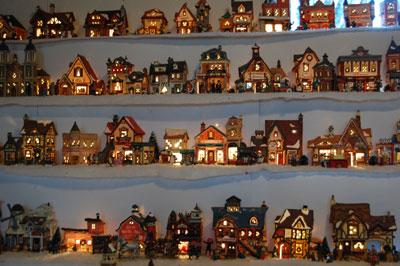 the christmas village warms the living room daily journal news dailyjournalonlinecom