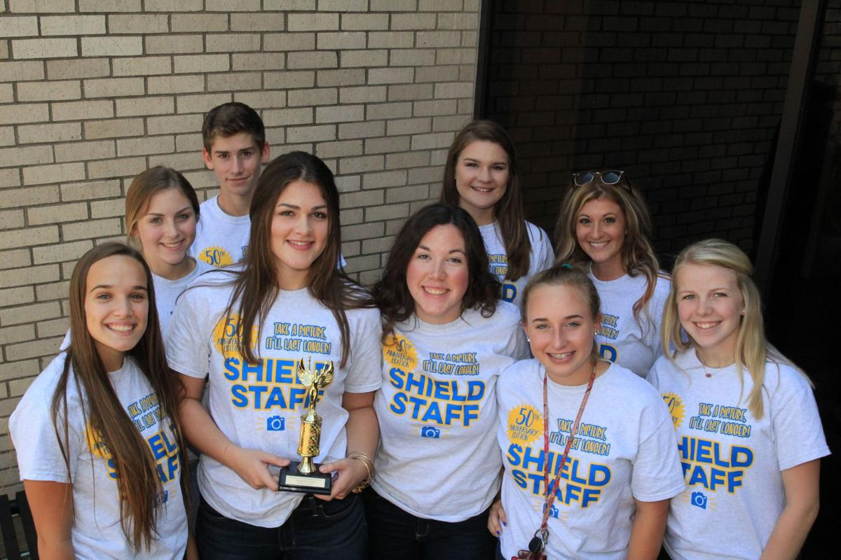NC yearbook staff received award