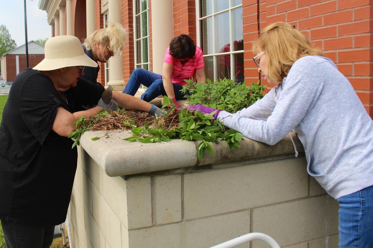 Garden clubs beautify downtown Farmington