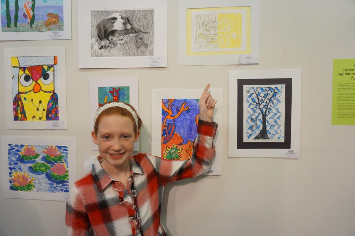 Roosevelt Elementary artists show work in Capitol