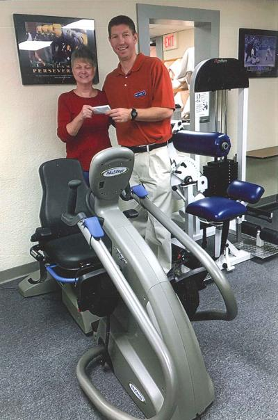 Ladies Auxiliary donates check to Physical Therapy