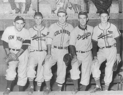 Baseball legends play at 1948 Farmington Blues game