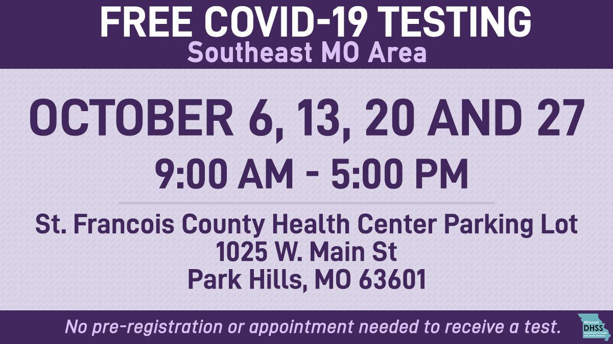 WEB ONLY COVID testing continues on Wednesday at SFCHC