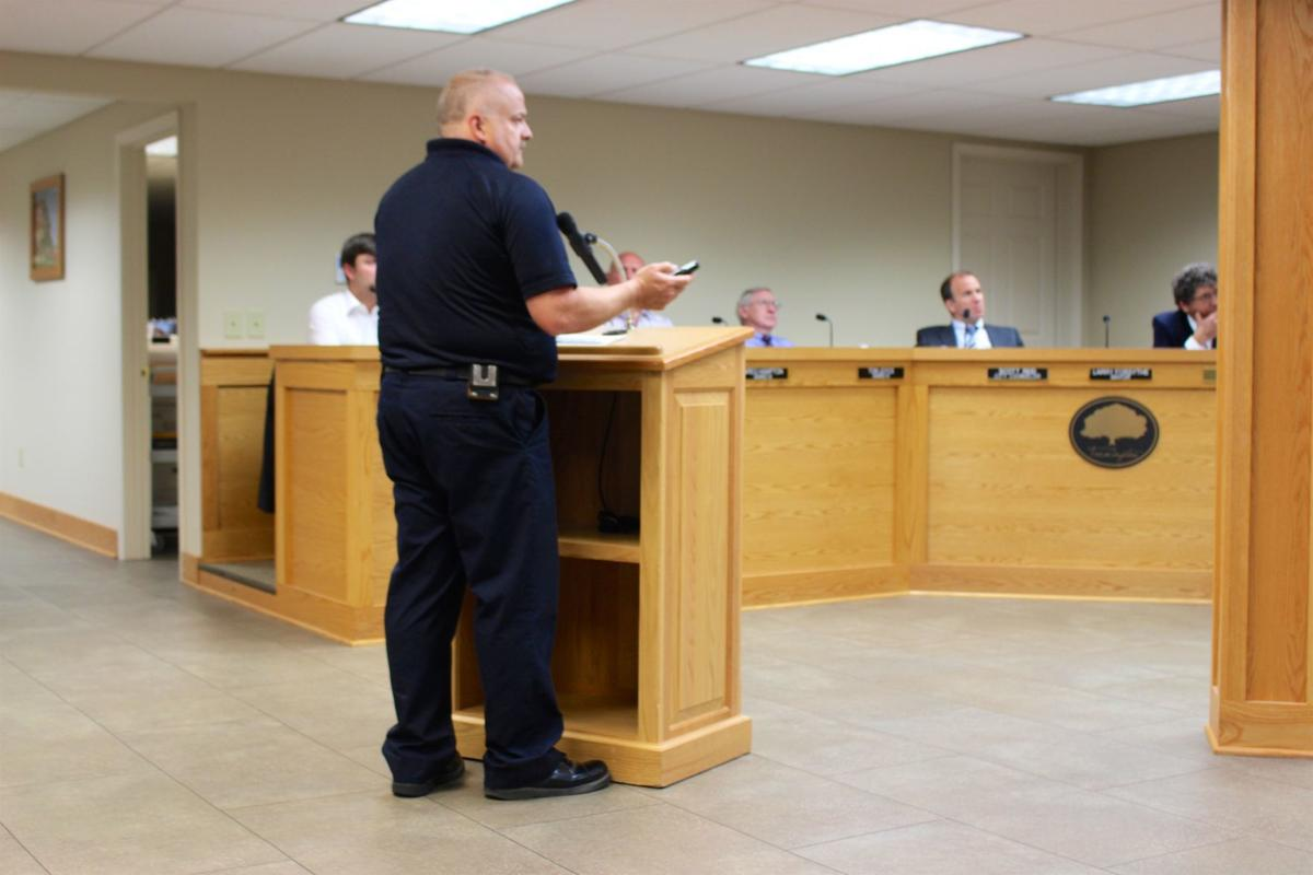 Fire chief gives report to council