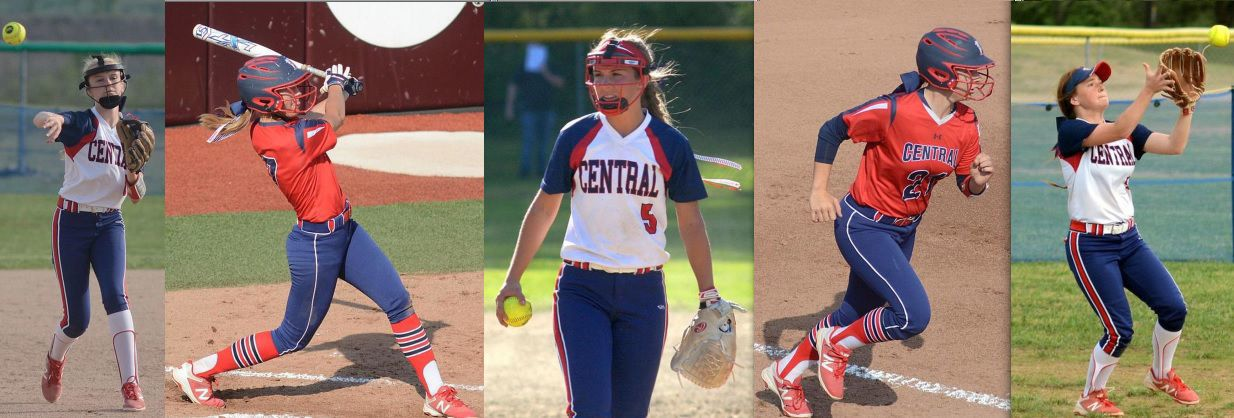 Central Softball Lady Rebels dominate all state softball