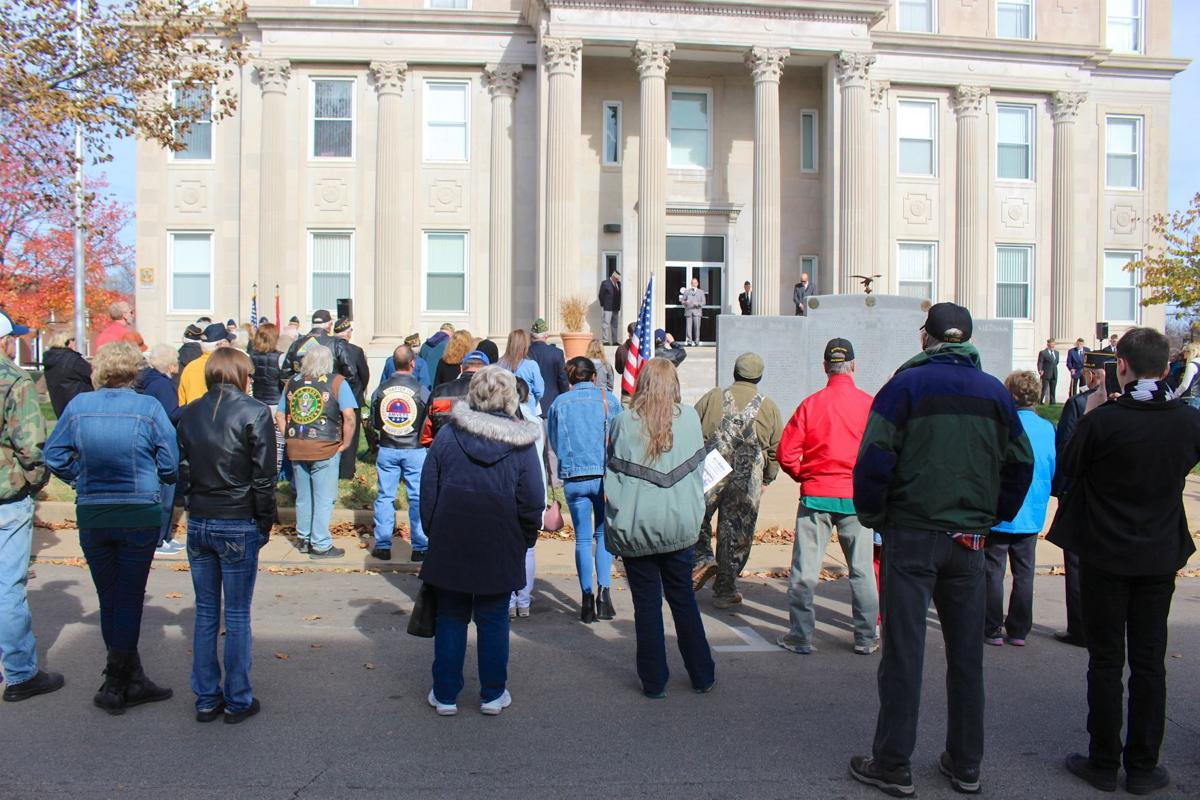 Courthouse crowd honors vets