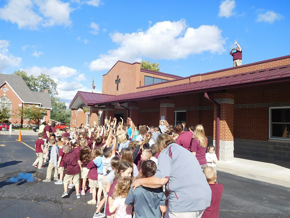 Principal camps out - for a good cause
