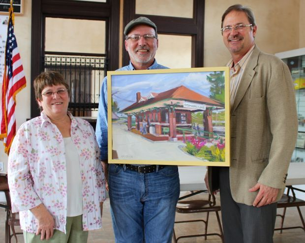 Artist's work finds permanent home in depot