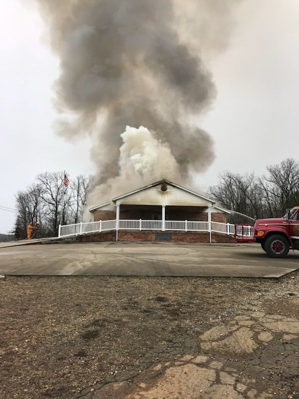 Two injured in church explosion