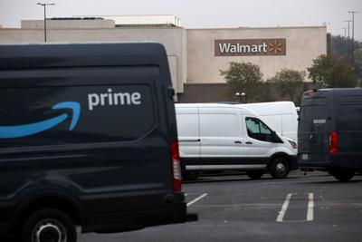 Amazon Delivery at Walmart