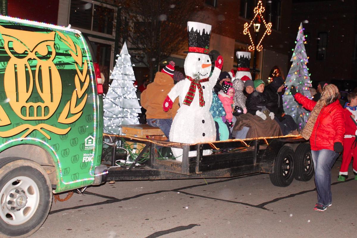 Krekeler Christmas Parade snows, glows