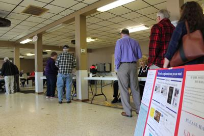 Voters turn out in Farmington