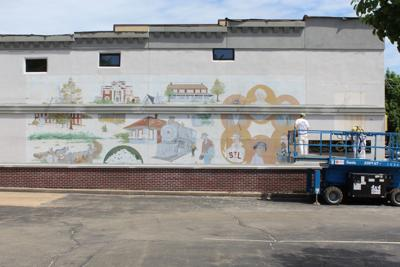 Building repairs make mural unsalvageable