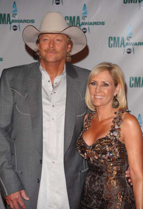Alan Jackson with beautiful, Wife Denise Jackson
