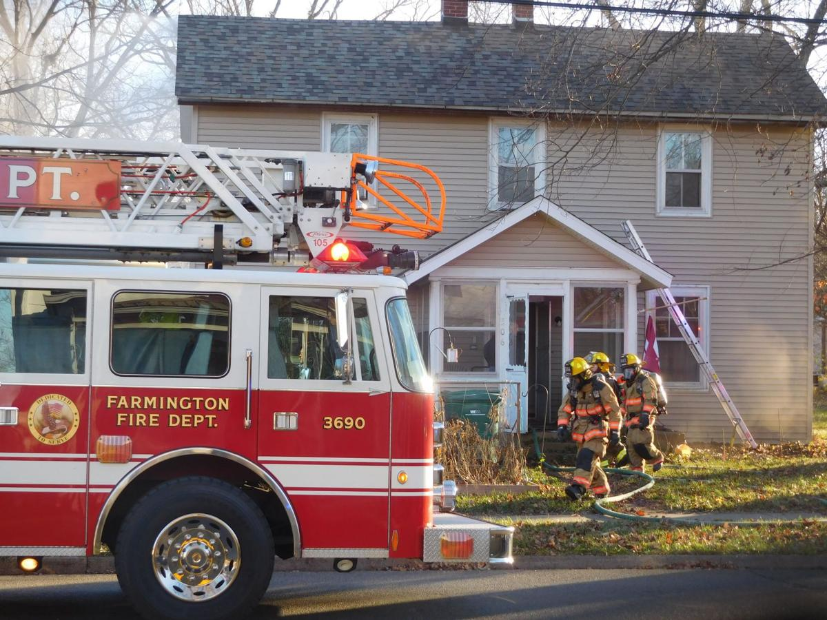 Crews battle fire on busy afternoon