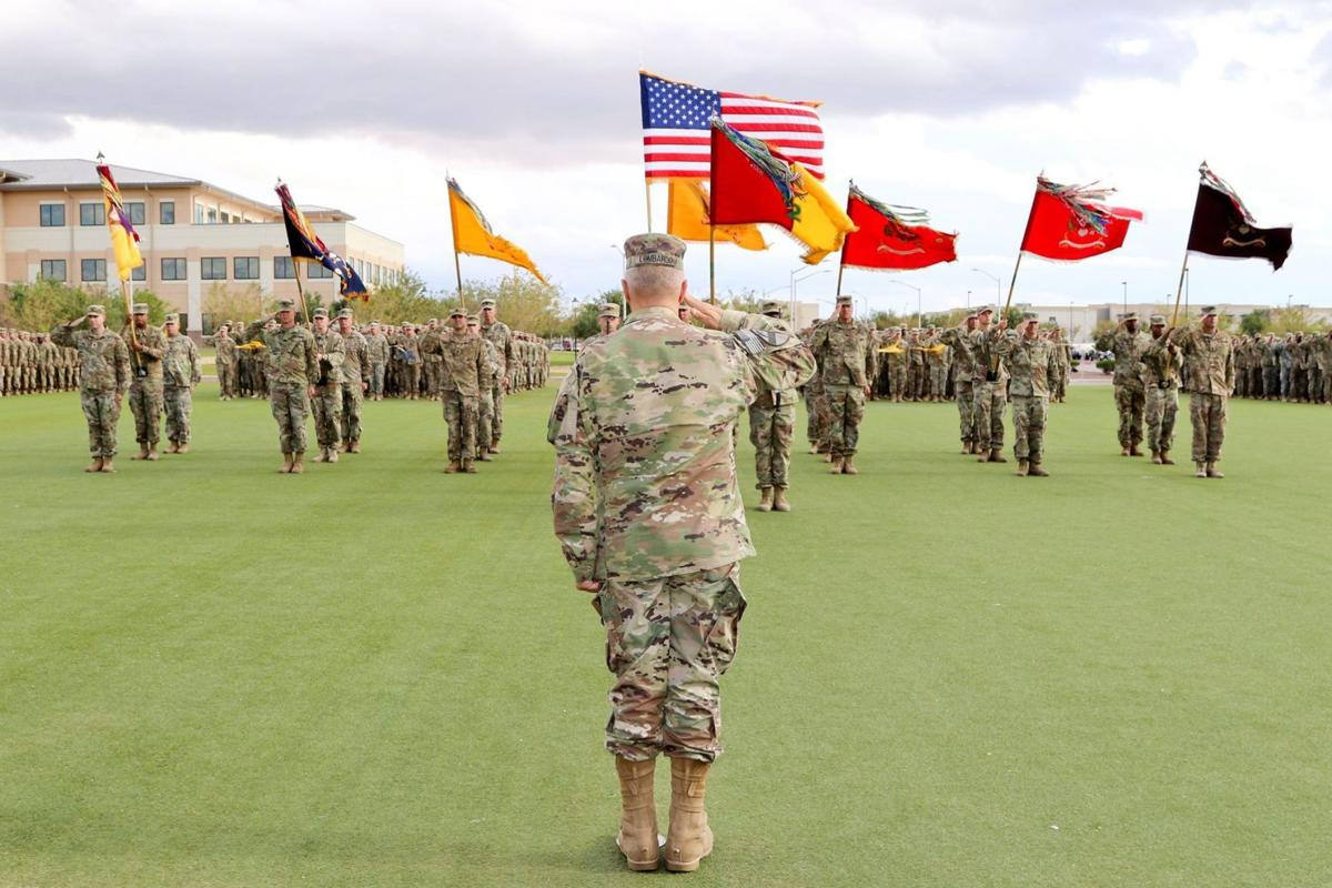Iron Brigade cases its colors in preparation for Middle East deployment
