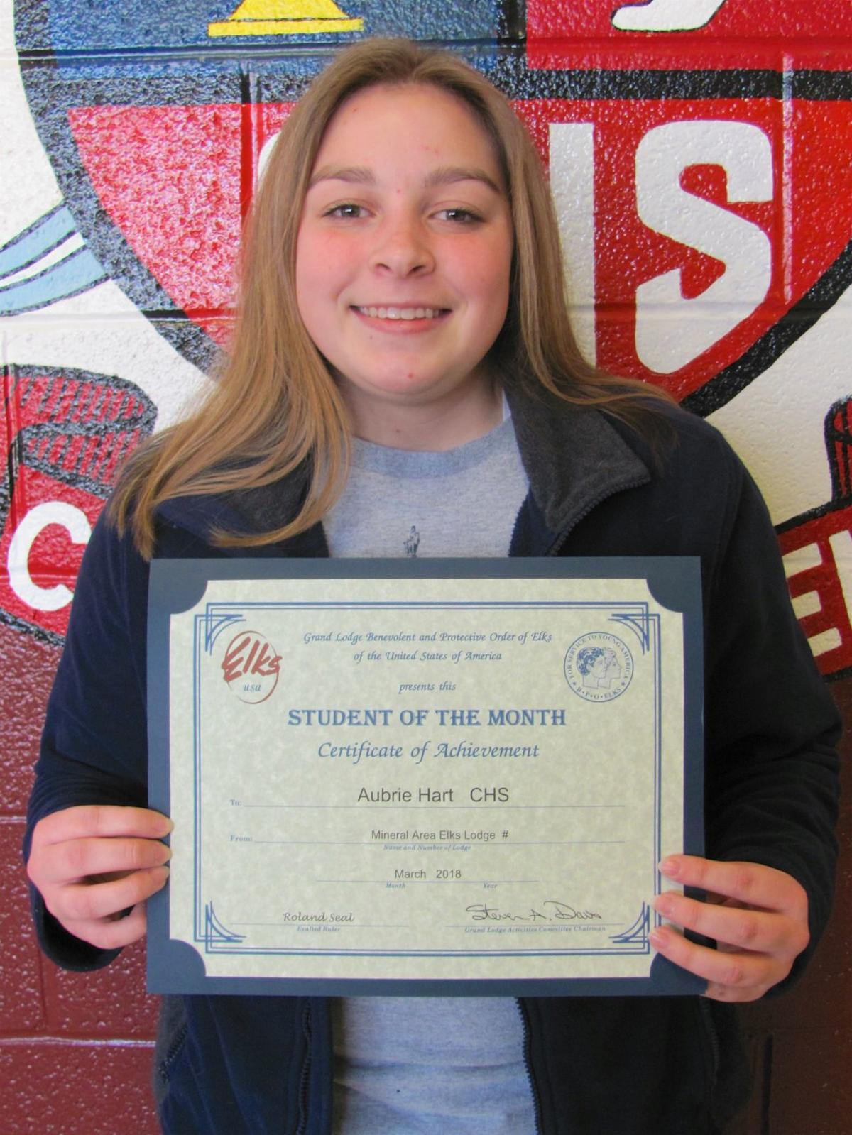 mac elks announce march students of the month daily journal news