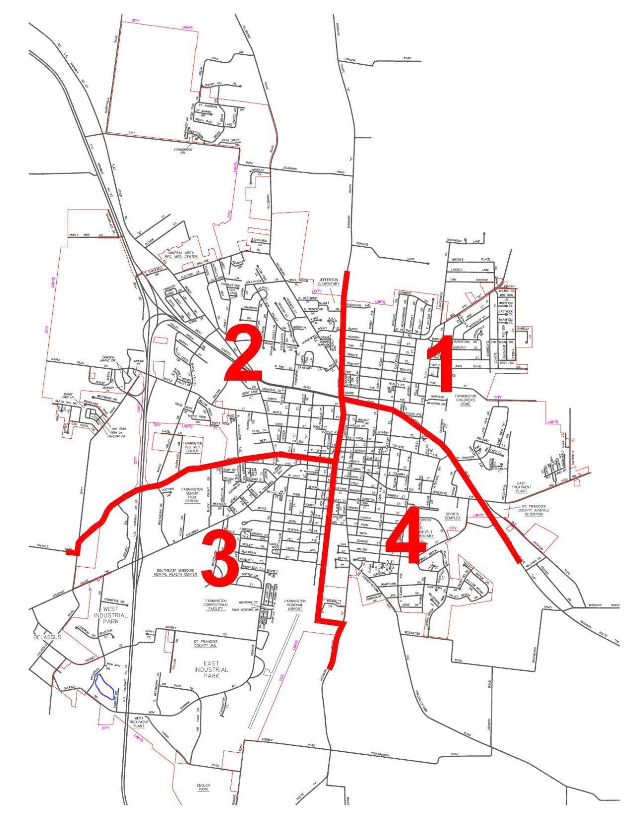 Farmington Ward Map dailyjournalonlinecom