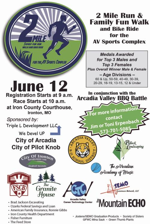 Fun run for AV Sports Complex on Saturday
